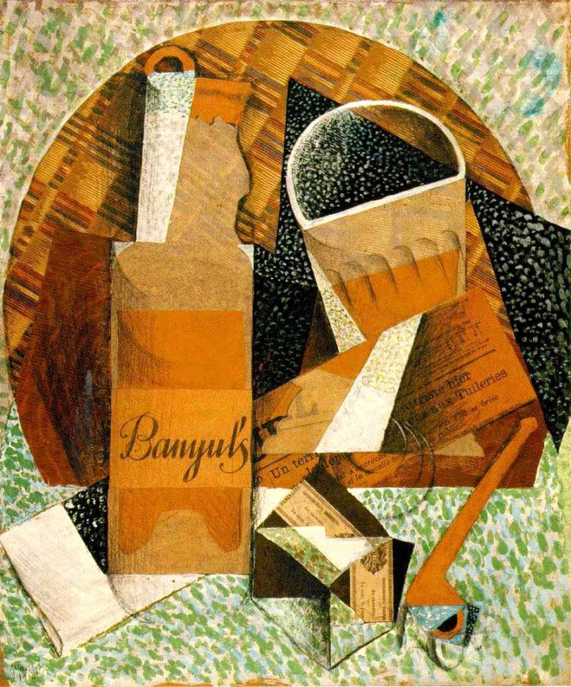 Bottle Of Banyuls by Juan Gris