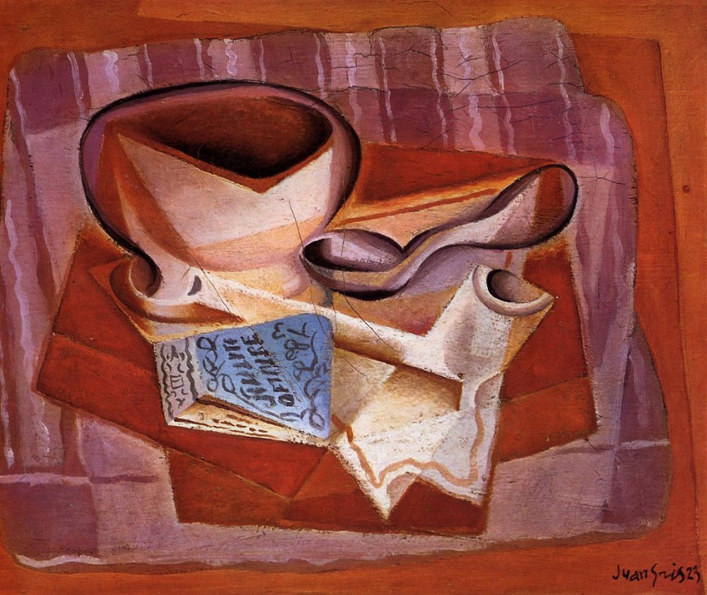 Bowl, Book and Spoon by Juan Gris