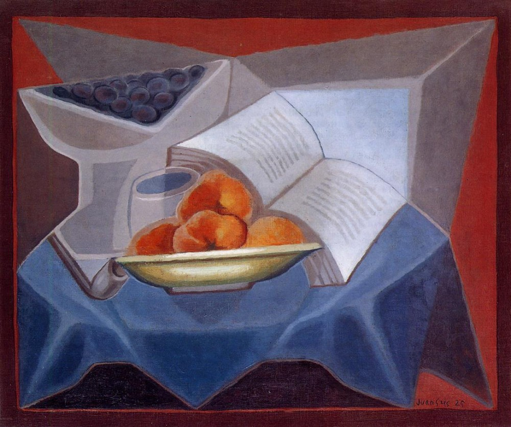 Fruit and Book by Juan Gris