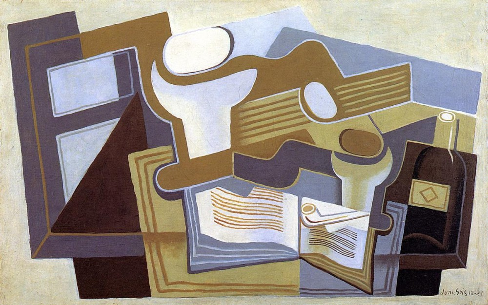Guitar and Fruit Dish by Juan Gris