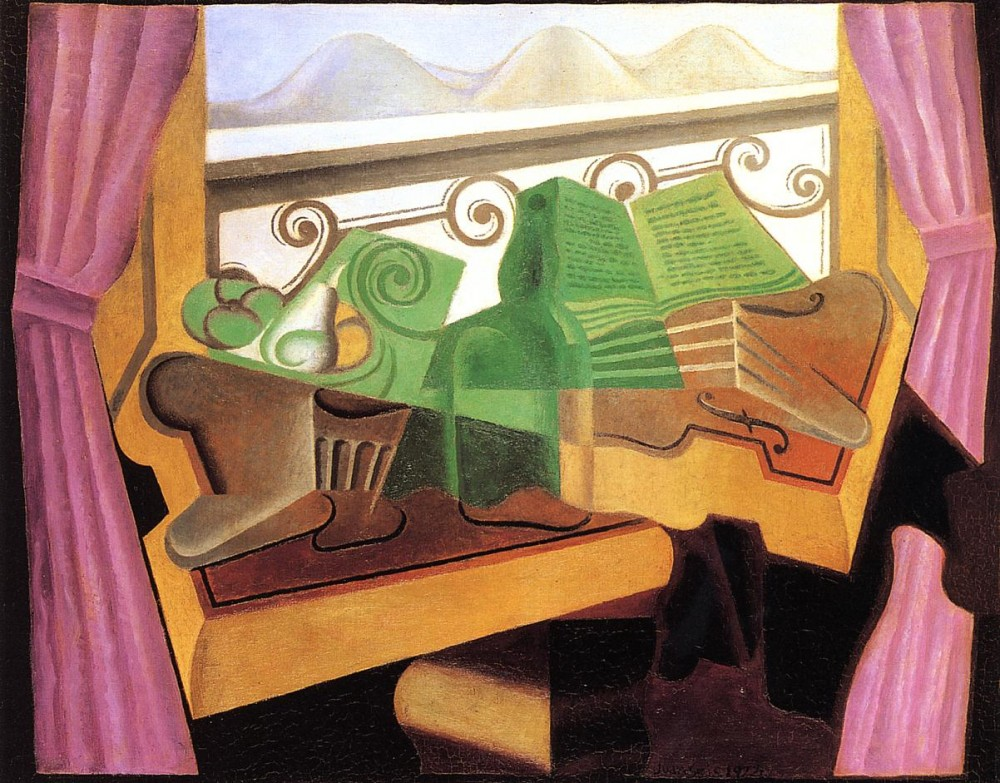Open Window with Hills by Juan Gris