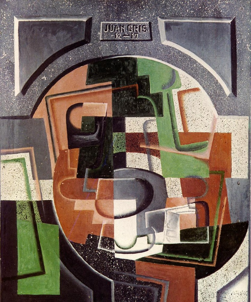 Still Life on Plaque by Juan Gris