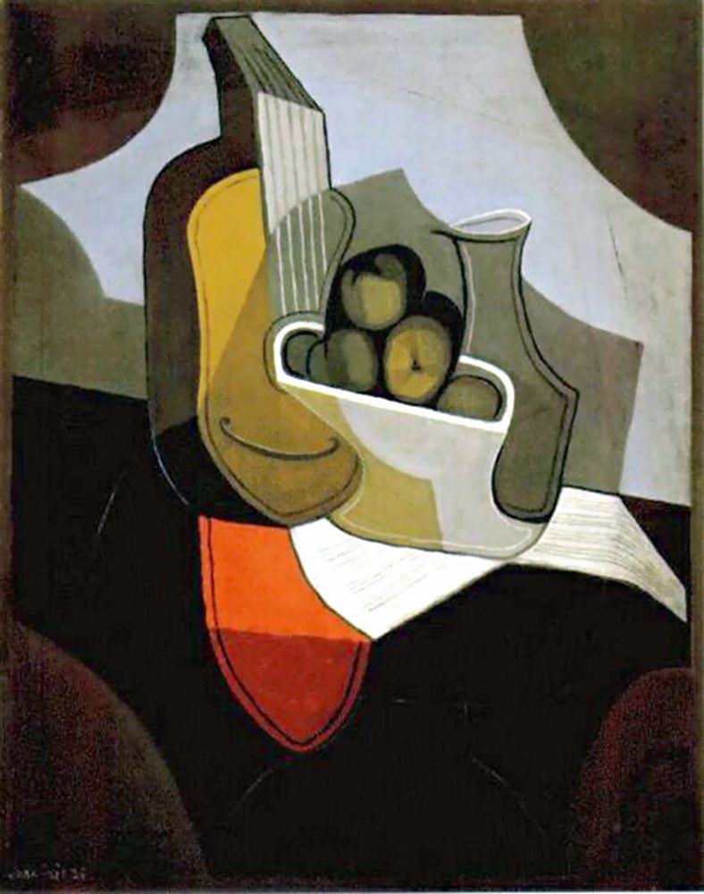 Table with Red Cloth by Juan Gris