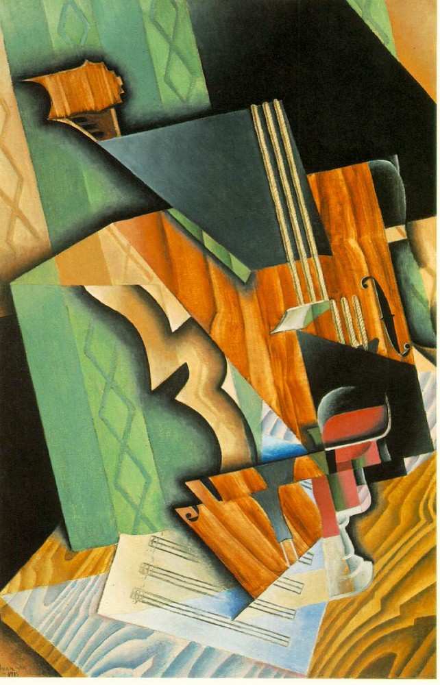 Violin Glass by Juan Gris