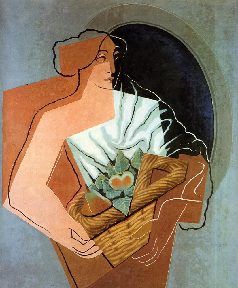Woman With Basket by Juan Gris