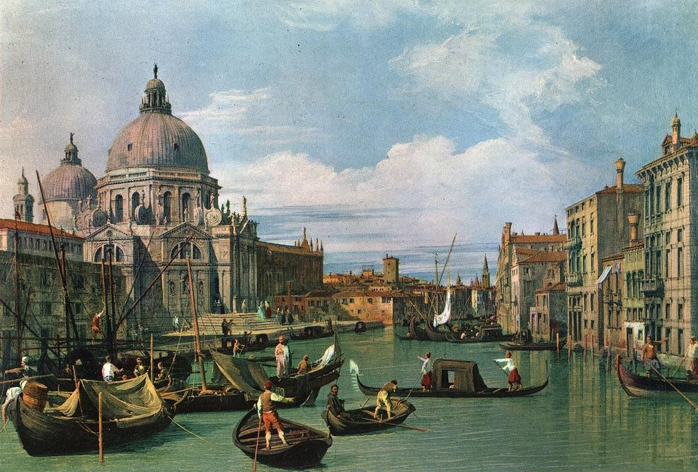 The Grand Canal and the Church of the Salute by Giovanni Antonio Canal