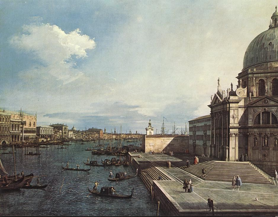 The Grand Canal at the Salute Church by Giovanni Antonio Canal