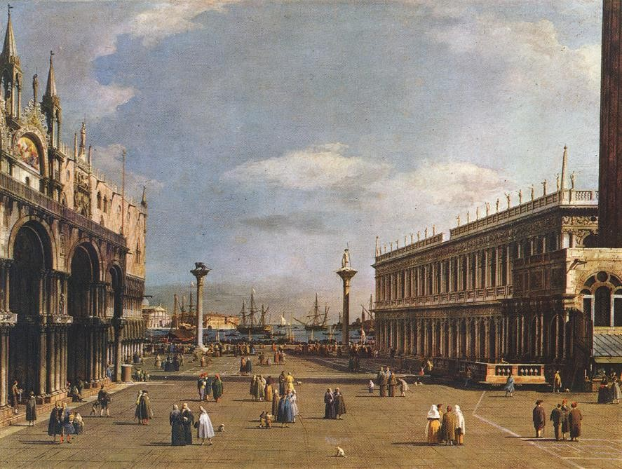 The Piazzetta by Giovanni Antonio Canal