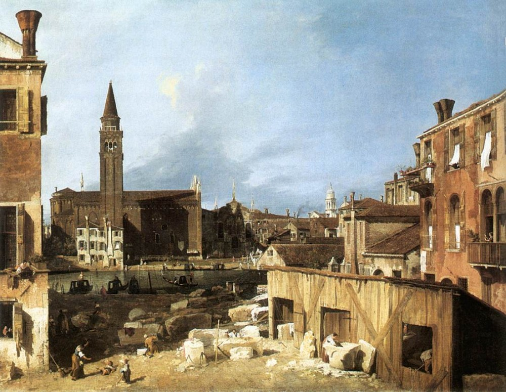 The Stonemasons Yard by Giovanni Antonio Canal