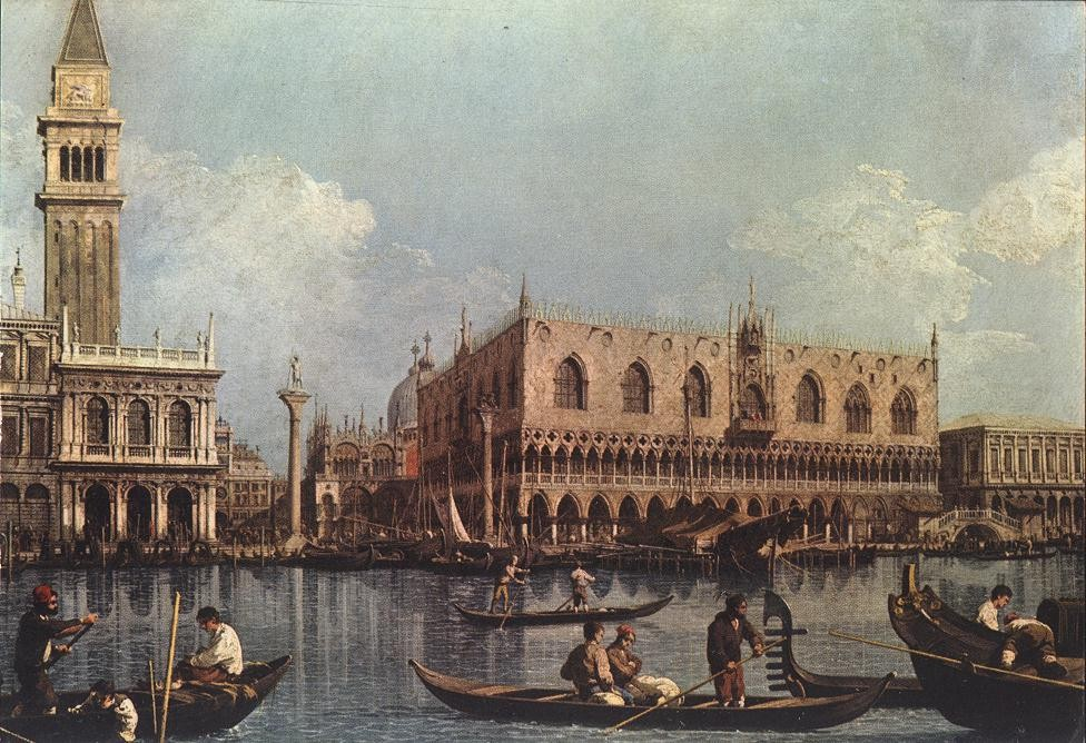 View of the Bacino di San Marco by Giovanni Antonio Canal