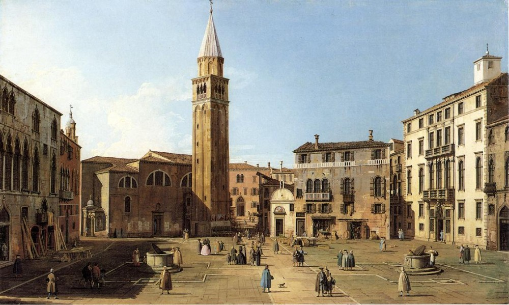 Campo Sant Angelo by Giovanni Antonio Canal