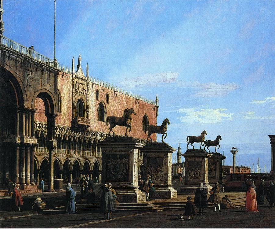 Capriccio With The Four Horses From The Cathedral Of San Marco by Giovanni Antonio Canal
