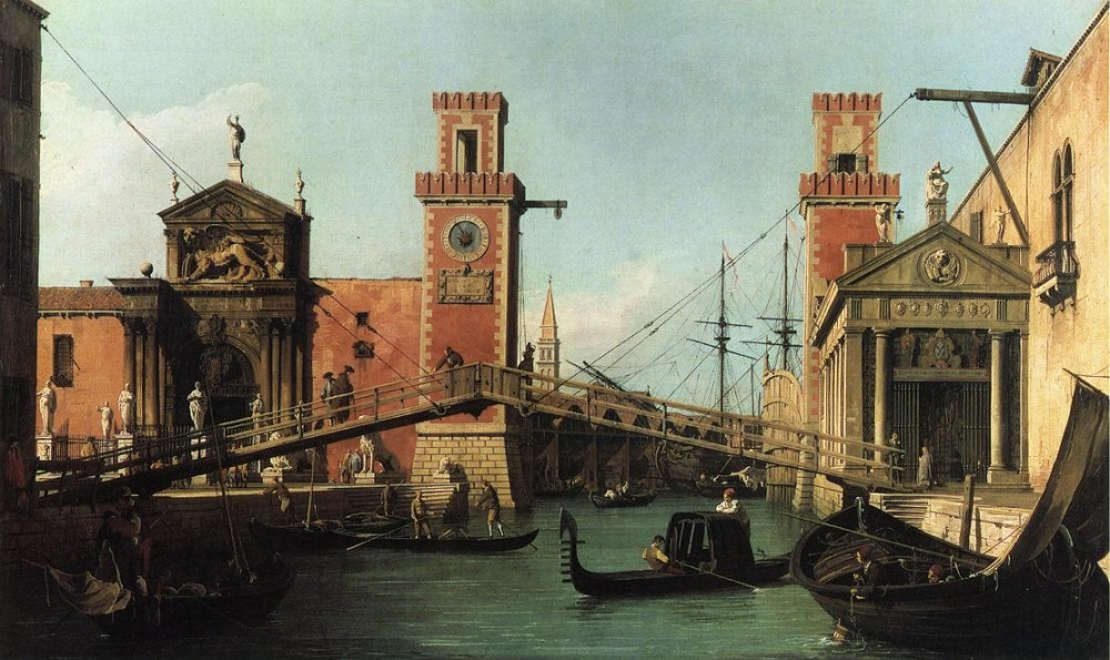 Entrance To The Arsenal by Giovanni Antonio Canal