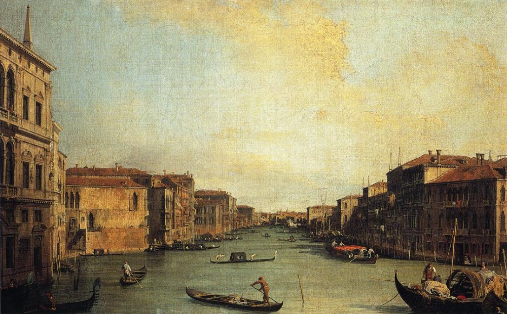 Grand Canal From The Palazzo Balbi by Giovanni Antonio Canal