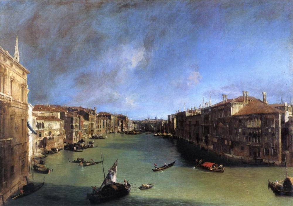 Grand Canal Looking Northeast From The Palazzo Balbi To The Rialto Bridge by Giovanni Antonio Canal