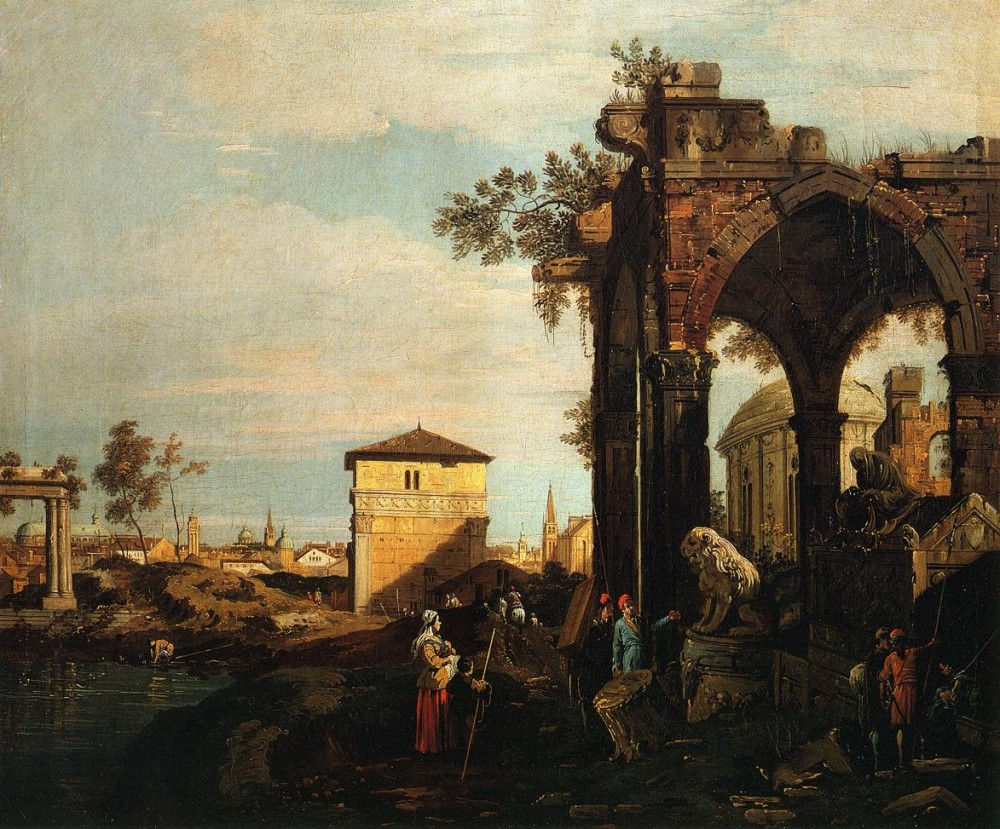 Landscpae With Ruins by Giovanni Antonio Canal