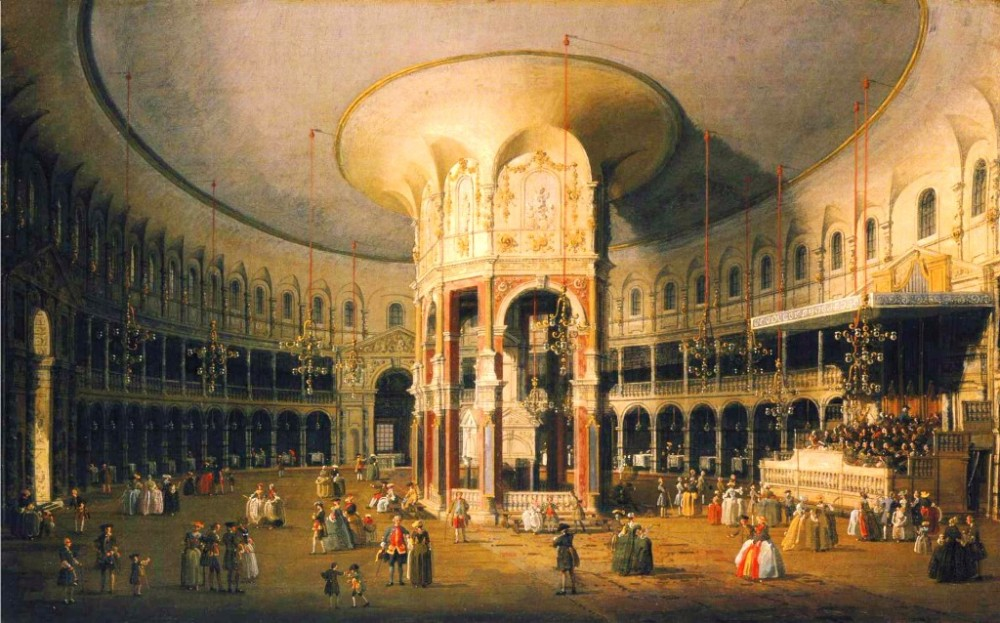 London The Interior Of The Rotunda At Ranelagh by Giovanni Antonio Canal