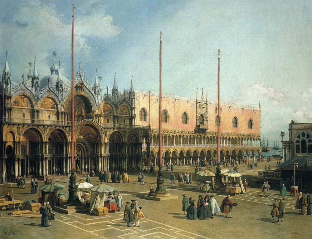 Piazza San Marco by Giovanni Antonio Canal
