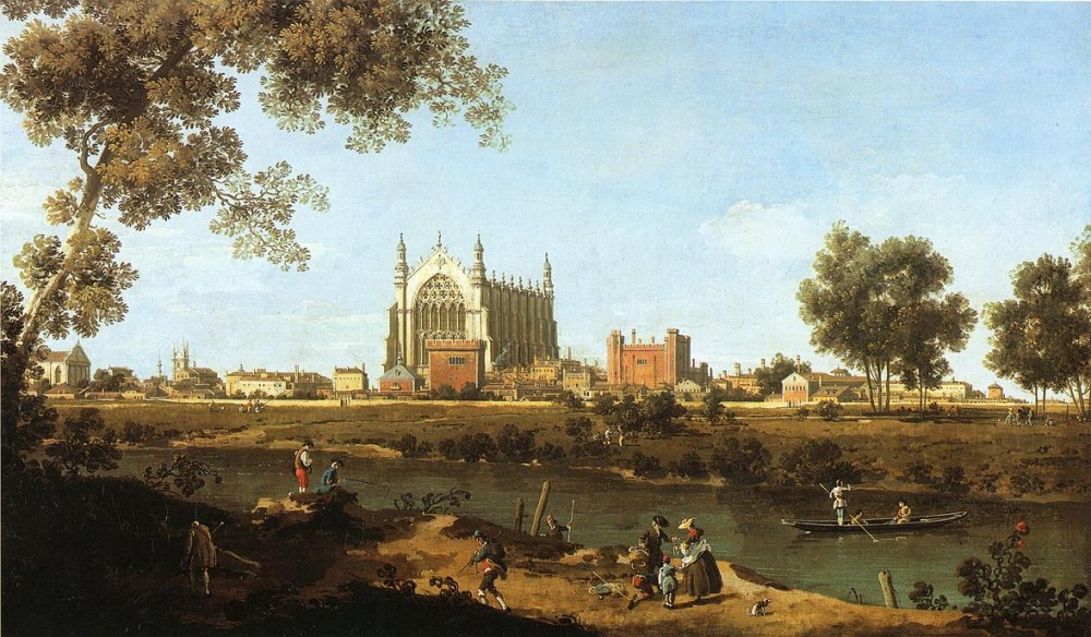The Chapel Of Eton College by Giovanni Antonio Canal