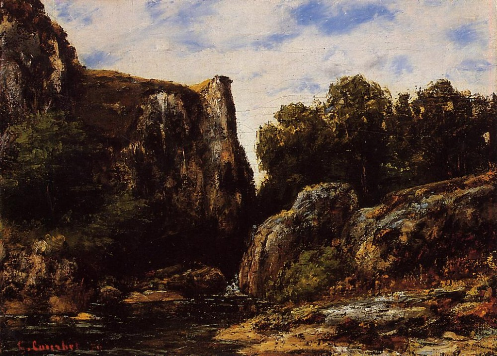 A Waterfall in the Jura by Jean Désiré Gustave Courbet