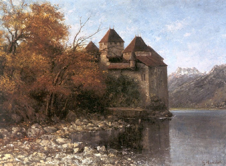 Chateau de Chillon by Jean Désiré Gustave Courbet