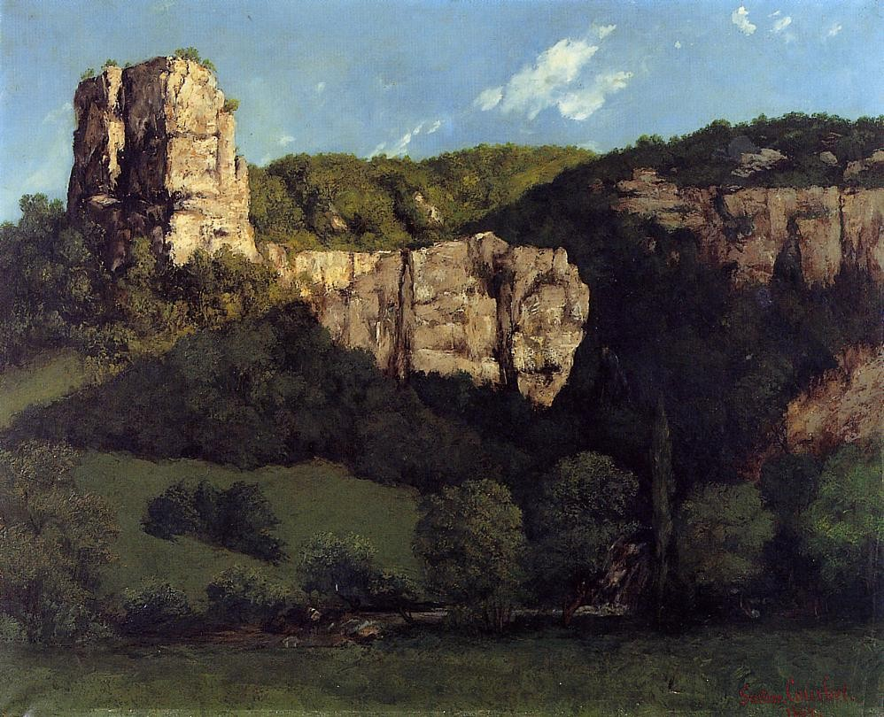 Landscape Bald Rock in the Valley of Ornans by Jean Désiré Gustave Courbet