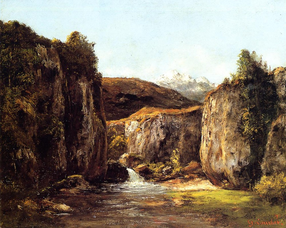 Landscape The Source among the Rocks of the Doubs by Jean Désiré Gustave Courbet