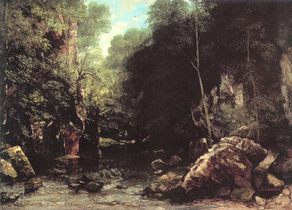 The Shaded Stream The Stream of the Puits Noir by Jean Désiré Gustave Courbet