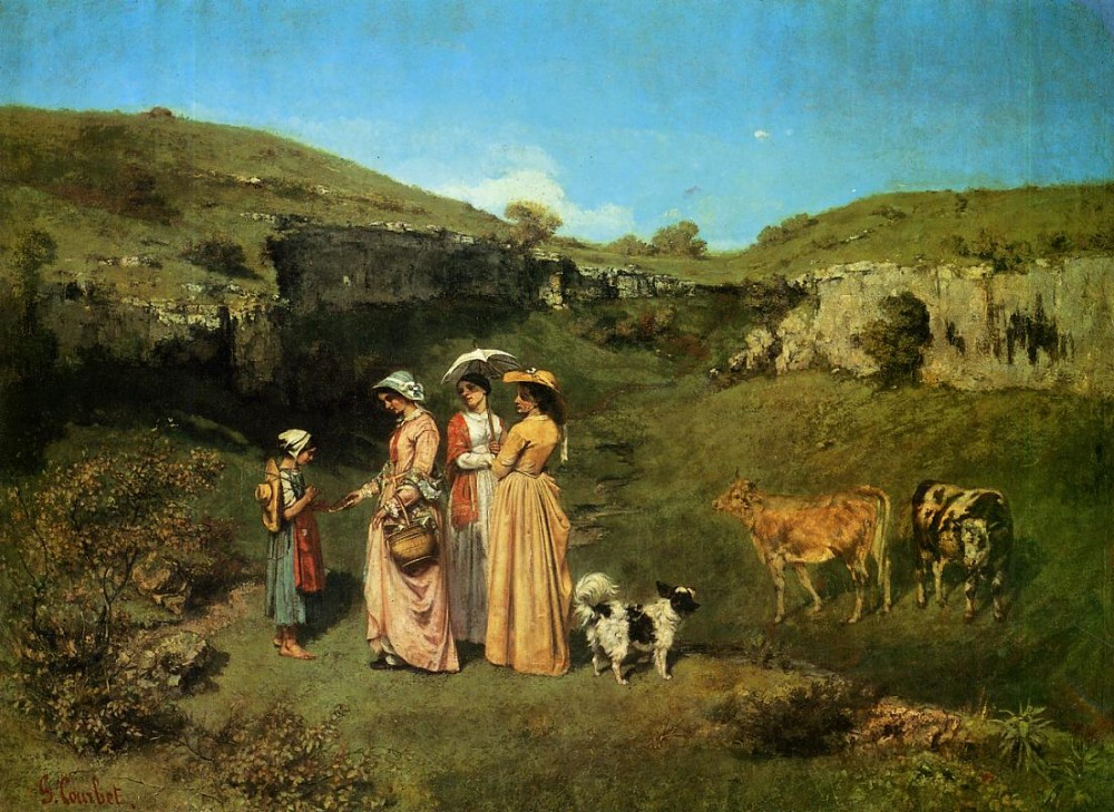 The Young Ladies of the Village by Jean Désiré Gustave Courbet