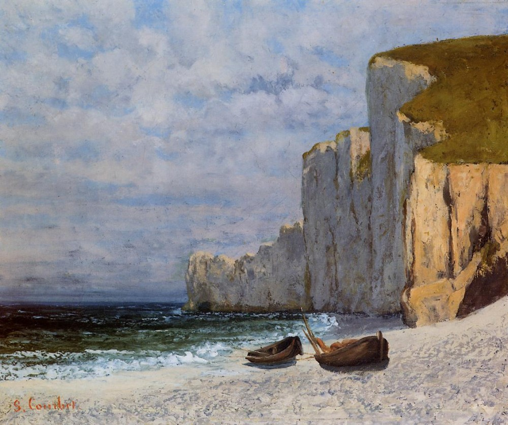 A Bay with Cliffs by Jean Désiré Gustave Courbet