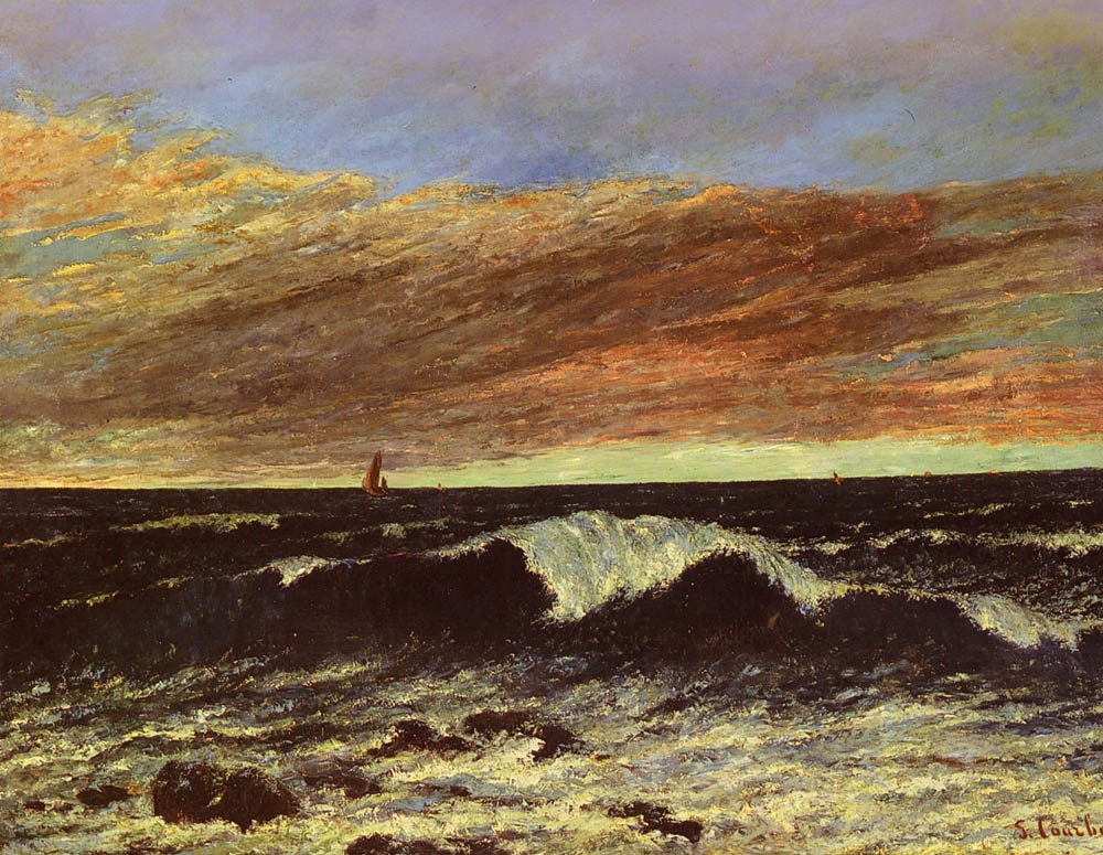 La Vague by Jean Désiré Gustave Courbet
