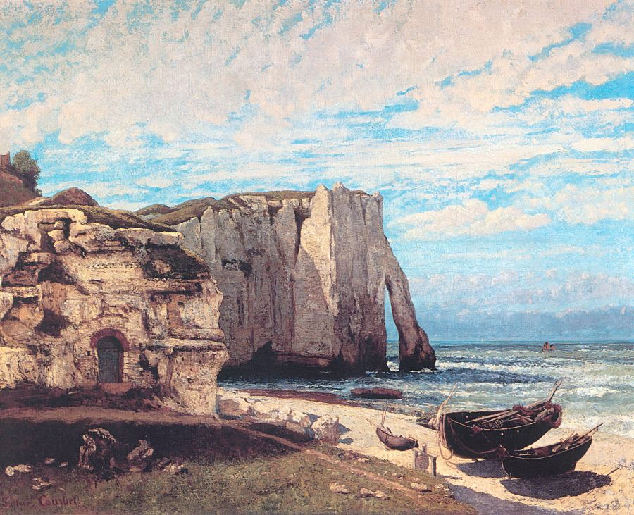 The Cliff at Etretat After the Storm by Jean Désiré Gustave Courbet