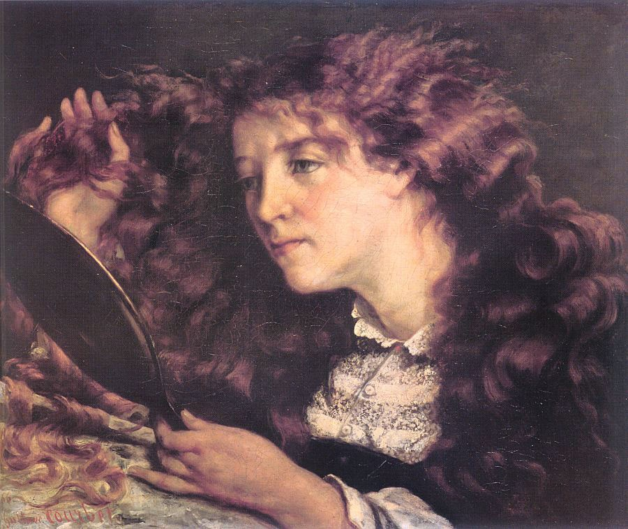 Portrait of Jo The Beautiful Irish Girl by Jean Désiré Gustave Courbet