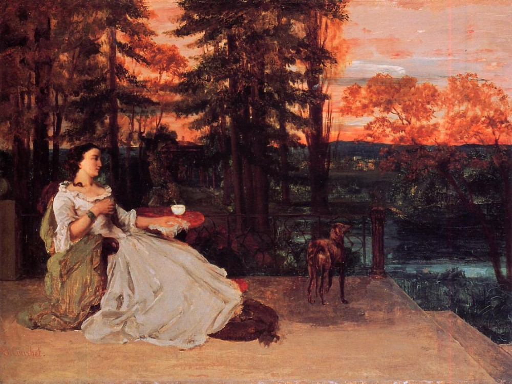 The Lady of Frankfurt Gustave Courbet by Jean Désiré Gustave Courbet