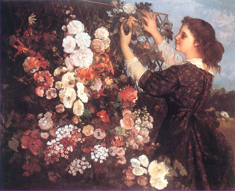 The Trellis by Jean Désiré Gustave Courbet