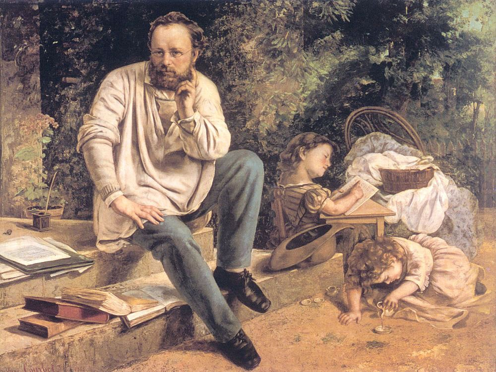 Portrait of PJ Proudhon by Jean Désiré Gustave Courbet
