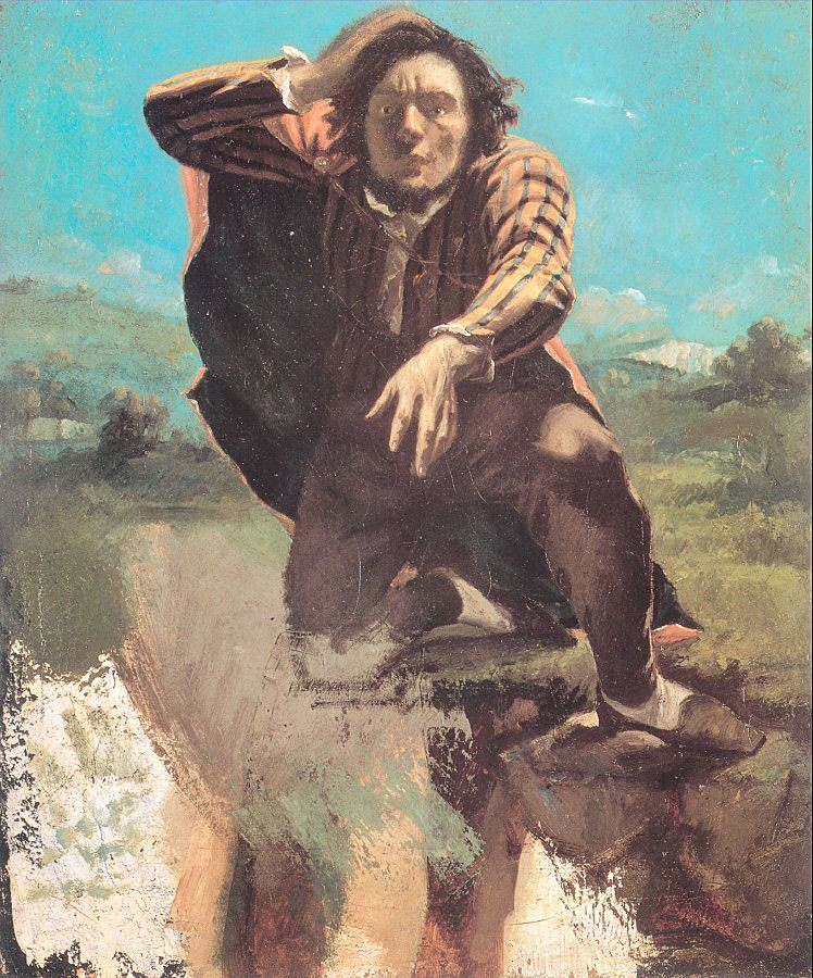 The Desperate Man The Man Made by Fear by Jean Désiré Gustave Courbet