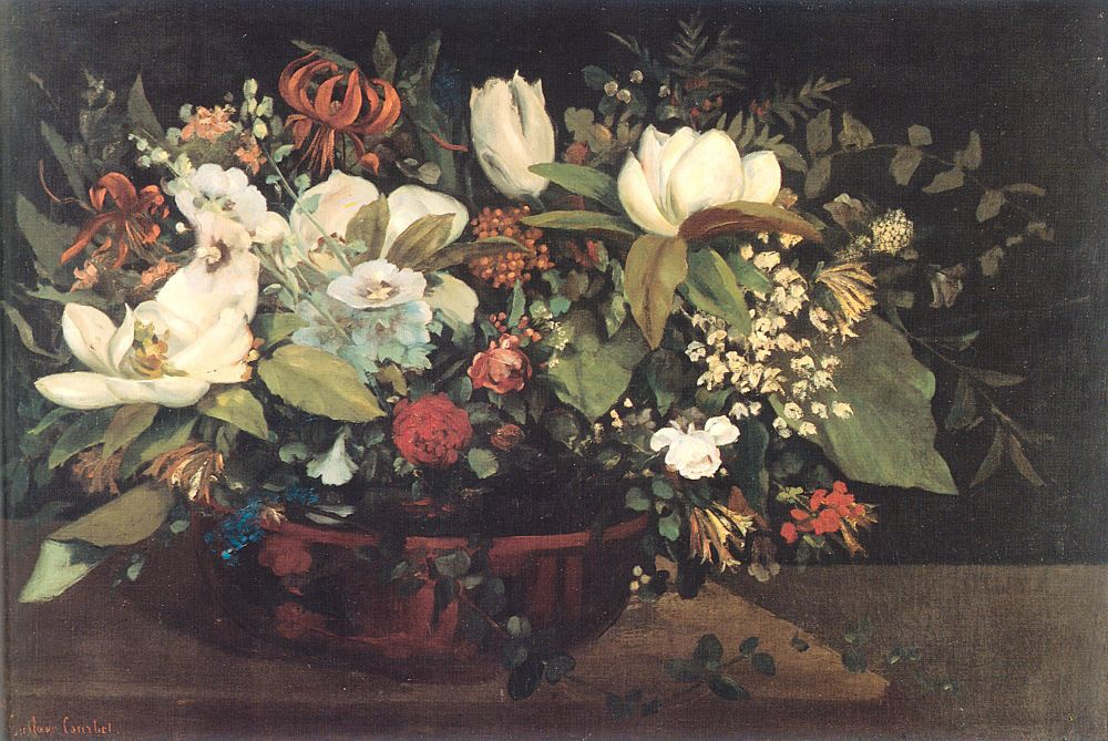 Basket of Flowers by Jean Désiré Gustave Courbet