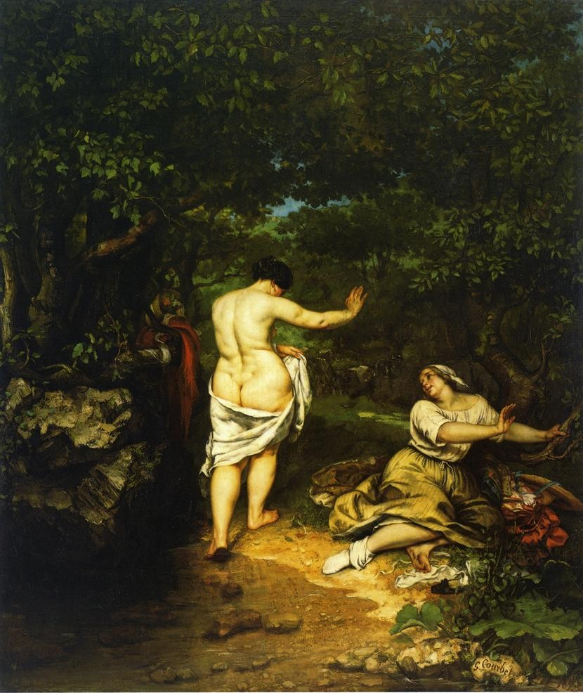The Bathers by Jean Désiré Gustave Courbet