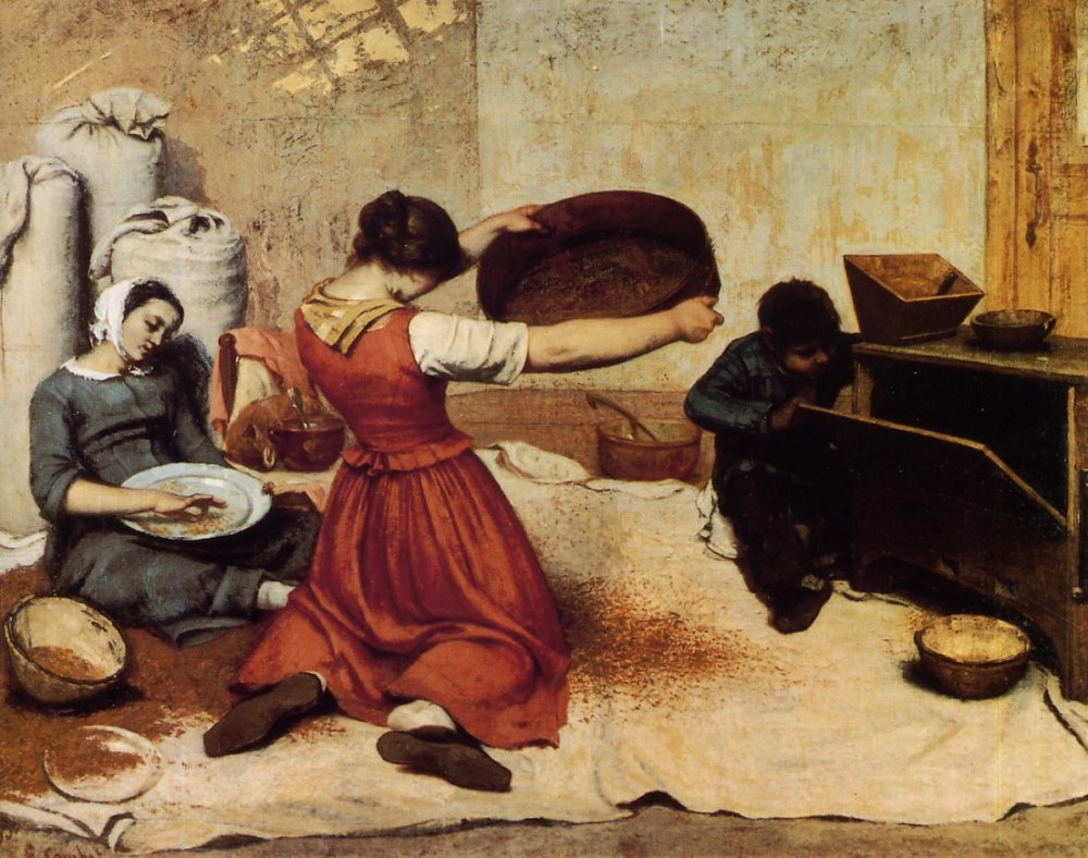 The Grain Sifters by Jean Désiré Gustave Courbet