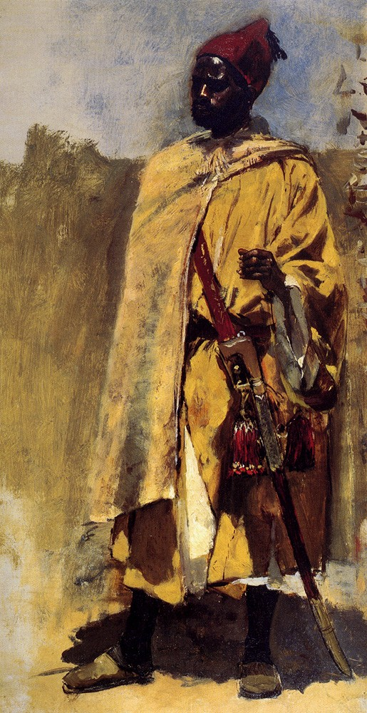 Moorish Guard by Edwin Lord Weeks