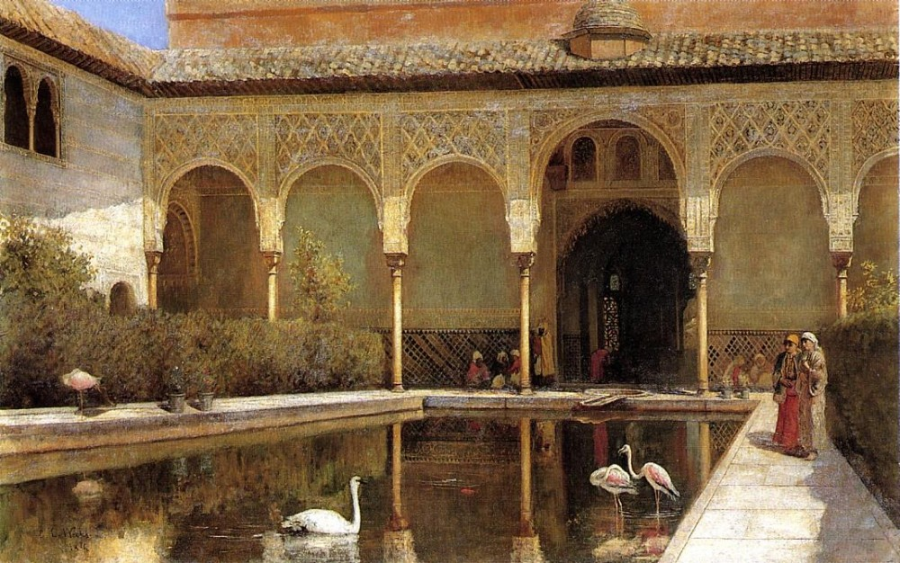 Lord A Court in The Alhambra in the Time of the Moors by Edwin Lord Weeks