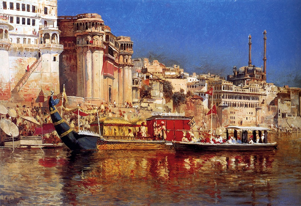 The Barge Of The Maharaja Of Benares by Edwin Lord Weeks