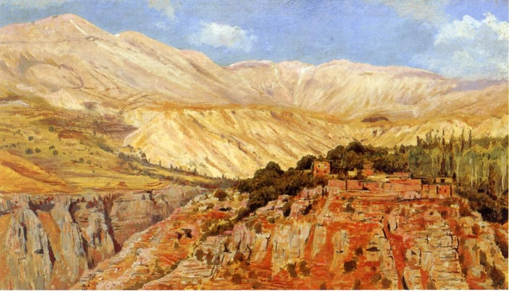 Village in Atlas Mountains Morocco by Edwin Lord Weeks