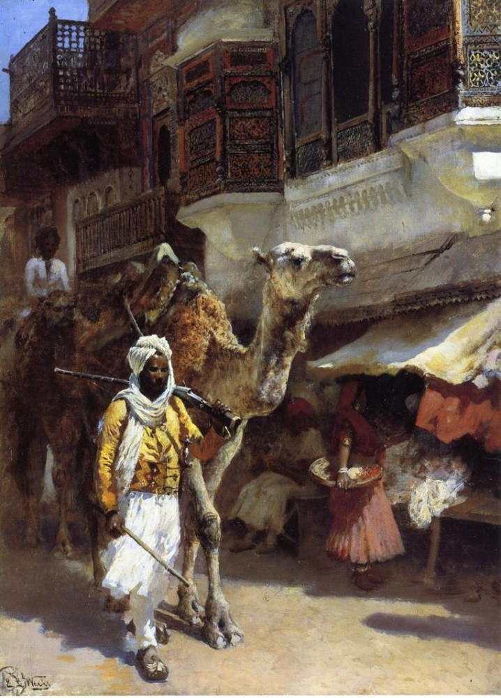 Man Leading a Camel by Edwin Lord Weeks