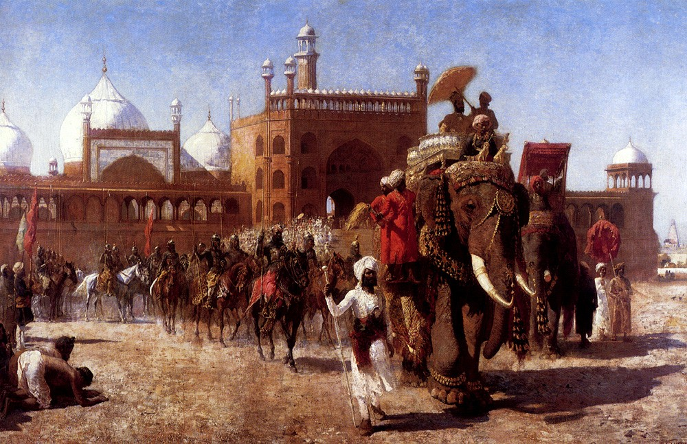 The Return Of The Imperial Court From The Great Mosque At Delhi by Edwin Lord Weeks
