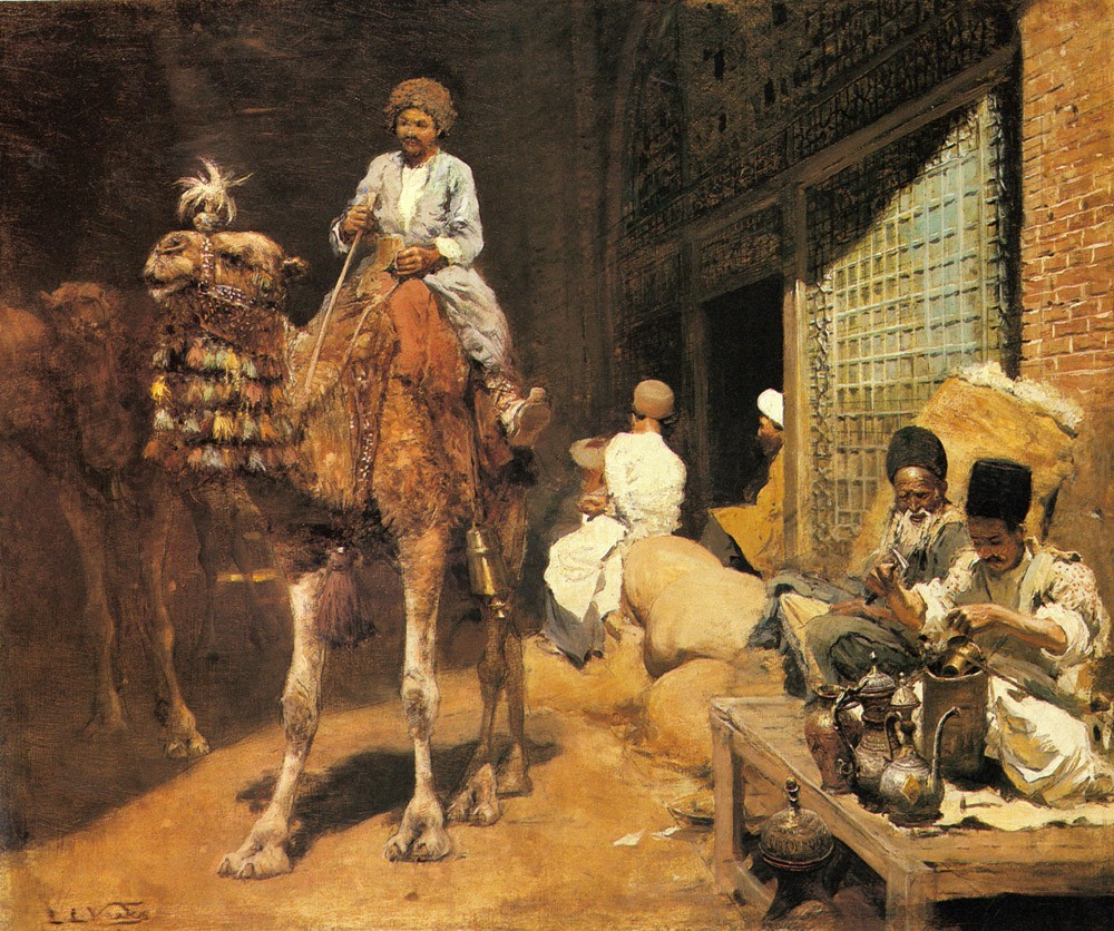 A Marketplace In Ispahan by Edwin Lord Weeks