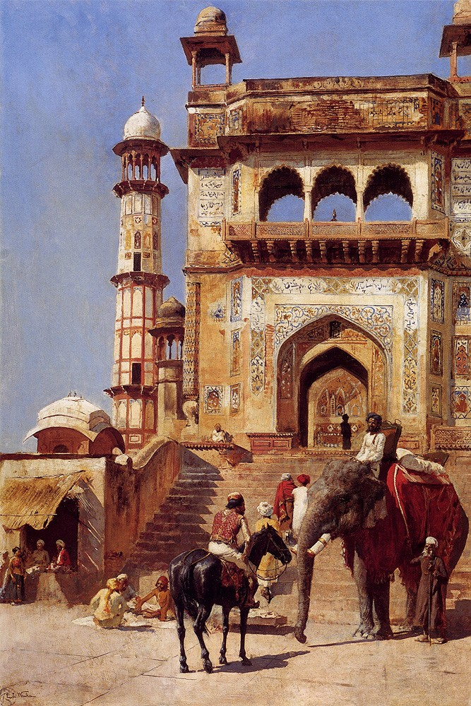 Before A Mosque by Edwin Lord Weeks