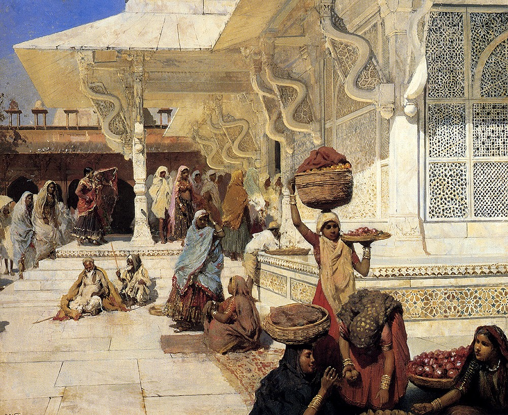 Festival At Fatehpur Sikri by Edwin Lord Weeks