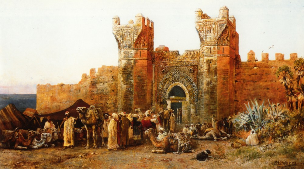 Gate of Shehal Morocco by Edwin Lord Weeks